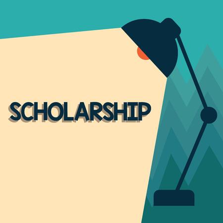 Escritura a mano conceptual mostrando beca. Foto de negocios que muestra la subvención o el pago realizado para apoyar el estudio académico de la educación.