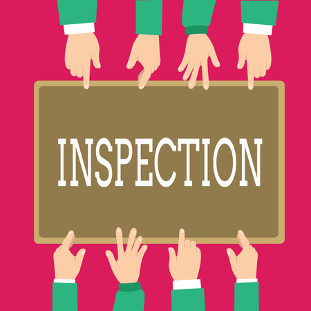 Word writing text Inspection. Business concept for Careful examination or scrutiny Investigation Review Evaluation.