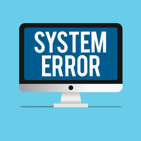 Conceptual hand writing showing System Error. Business photo showcasing Technological failure Software collapse crash Information loss. 스톡 콘텐츠