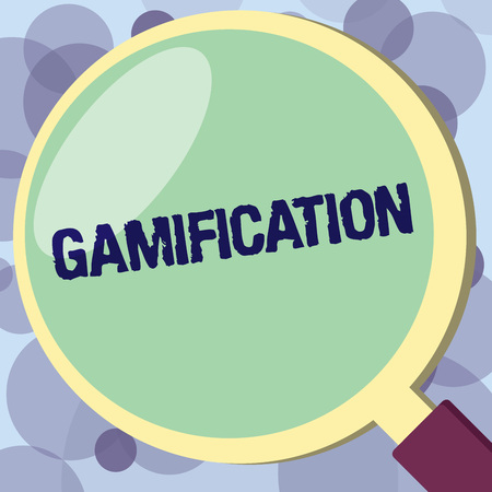 Text sign showing Gamification. Conceptual photo Application of typical elements of game playing to other areas.