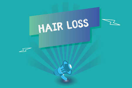 Writing note showing Hair Loss. Business photo showcasing Loss of huanalysis hair from the head or any part of the body Balding.