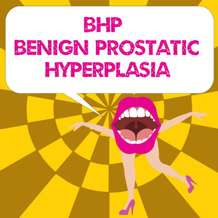 Conceptual hand writing showing Bhp Benign Prostatic Hyperplasia. Business photo text Noncancerous prostate gland enlargement.