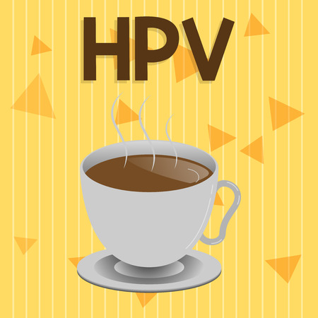 Handwriting text Hpv. Concept meaning Group of viruses that affect your skin and the moist membranes.