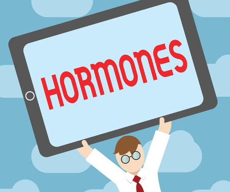 Text sign showing Hormones. Conceptual photo regulatory substance produced in organism transported tissue fluids.