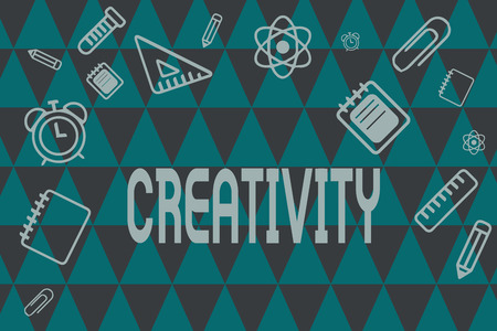 Word writing text Creativity. Business concept for Use of imagination or original ideas to create something. Stok Fotoğraf