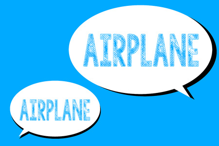 Word writing text Airplane. Business concept for Aircraft Vehicle designed for travel aerial transportation.