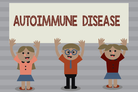 Word writing text Autoimmune Disease. Business concept for Unusual antibodies that target their own body tissues. Stok Fotoğraf
