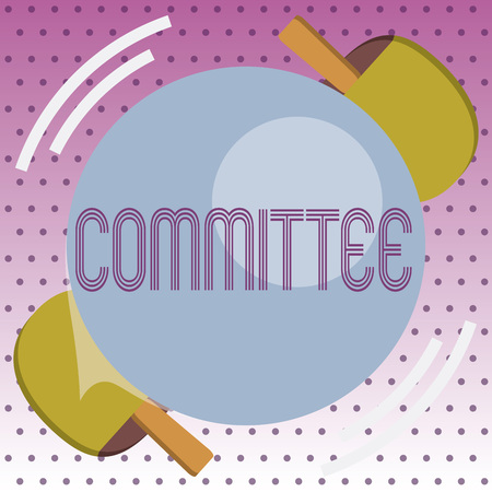 Handwriting text Committee. Concept meaning Group of showing appointed for a specific function Company teamwork. Stockfoto
