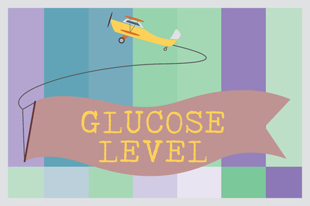 Word writing text Glucose Level. Business concept for Amount of glucose in the blood Reactive hyperglycemia.