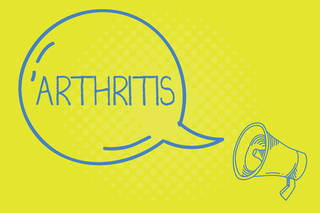 Word writing text Arthritis. Business concept for Disease causing painful inflammation and stiffness of the joints.