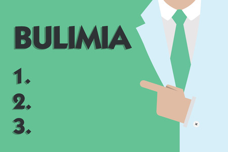 Text sign showing Bulimia. Conceptual photo Extreme obsession of getting overweight Emotional disorder. Stock Photo