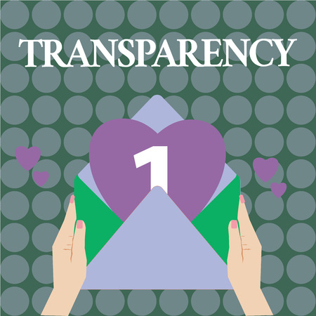 Word writing text Transparency. Business concept for Condition being transparent clear obvious evident Translucent.