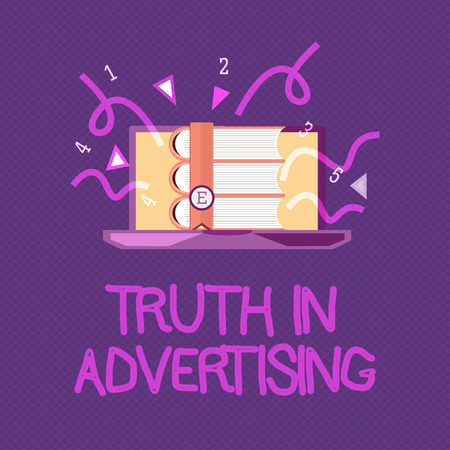 Handwriting text writing Truth In Advertising. Concept meaning Practice Honest Advertisement Publicity Propaganda. Stock Photo