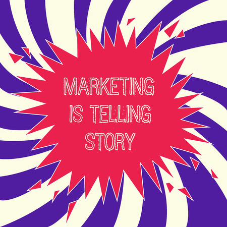 Word writing text Marketing Is Telling Story. Business concept for Breathe Life into the Brand Product or service. Фото со стока