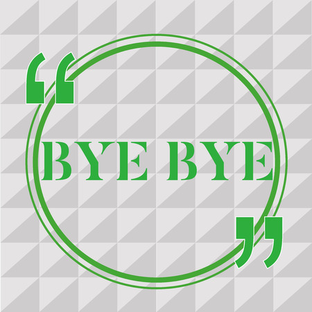 Handwriting text writing Bye Bye. Concept meaning Greeting for leaving Farewell See you soon Separation salute. Stock Photo