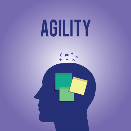 Word writing text Agility. Business concept for Ability to move think understand quickly and easily Fast development.