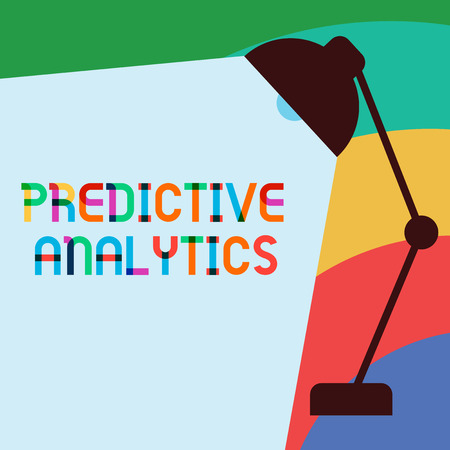 Text sign showing Predictive Analytics. Conceptual photo Optimize Collection Achieve CRMIdentify Customer. Stock Photo