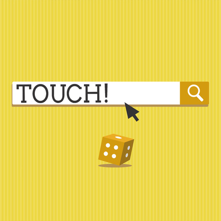 Text sign showing Touch. Conceptual photo handle in order to interfere with alter affect Contact with Smartphone.