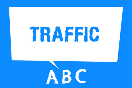 Text sign showing Traffic. Conceptual photo Vehicles moving on public highway Automobile motion Transport.