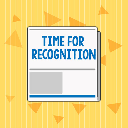 Handwriting text Time For Recognition. Concept meaning Acknowledgement Interval between Stimulus and Nature.