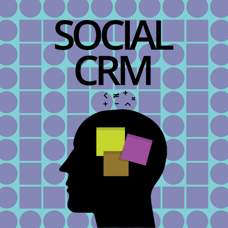 Conceptual hand writing showing Social Crm. Business photo text Customer relationship analysisagement used to engage with customers.
