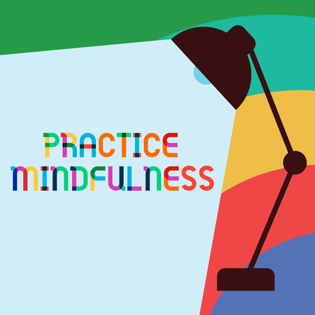 Text sign showing Practice Mindfulness. Conceptual photo achieve a State of Relaxation a form of Meditation. Reklamní fotografie - 111397958