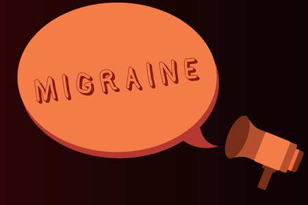 Conceptual hand writing showing Migraine. Business photo text recurrent throbbing headache that affects one side of head.