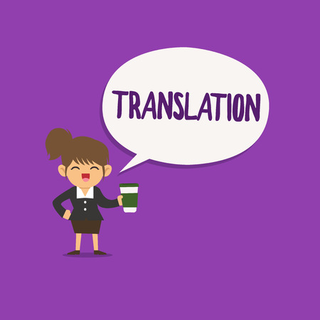 Conceptual hand writing showing Translation. Business photo text Process of translating words text from one language into another. Stock fotó