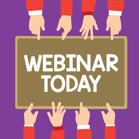 Conceptual hand writing showing Webinar Today. Business photo text Presentation that takes place on the Internet Video conference. 스톡 콘텐츠