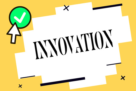 Conceptual hand writing showing Innovation. Business photo text New method idea product Different Creative Not known before.