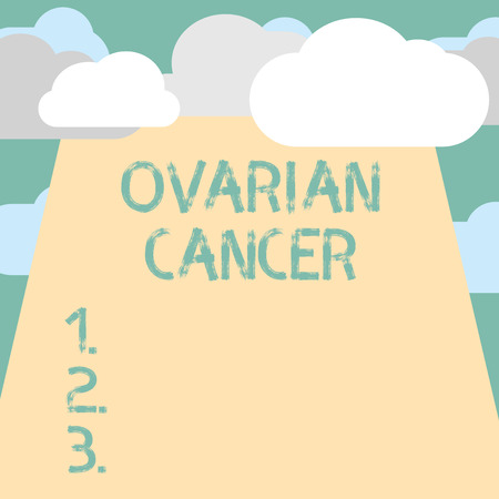 Text sign showing Ovarian Cancer. Conceptual photo abnormal cells in the ovary begin to multiply out of control.