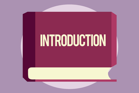 Conceptual hand writing showing Introduction. Business photo text First part of a document Formal presentation to an audience.