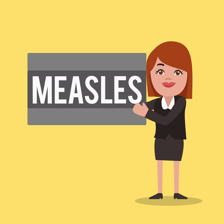 Word writing text Measles. Business concept for Infectious viral disease causing fever and a red rash on the skin.