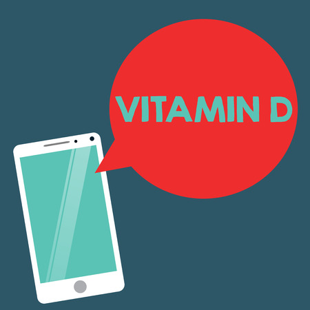 Writing note showing Vitamin D. Business photo showcasing Nutrient responsible for increasing intestinal absorption. Imagens