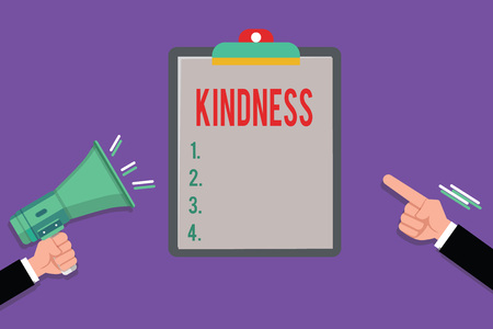 Conceptual hand writing showing Kindness. Business photo showcasing quality of being friendly generous and considerate Warmth.