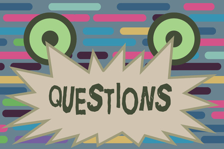 Text sign showing Questions. Conceptual photo Interrogative expression Requesting answers Asking for solutions.