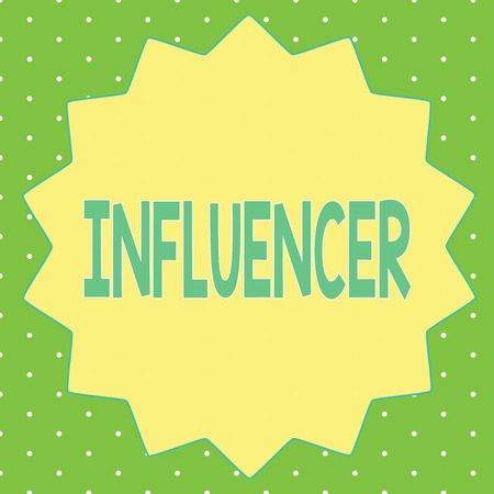 Word writing text Influencer. Business concept for person who influences and affect decisions opinions of others.