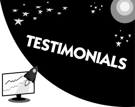 Word writing text Testimonials. Business concept for formal statement testifying to someone qualifications.