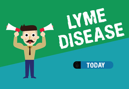 Handwriting text writing Lyme Disease. Concept meaning form of arthritis caused by bacteria that are spread by ticks.