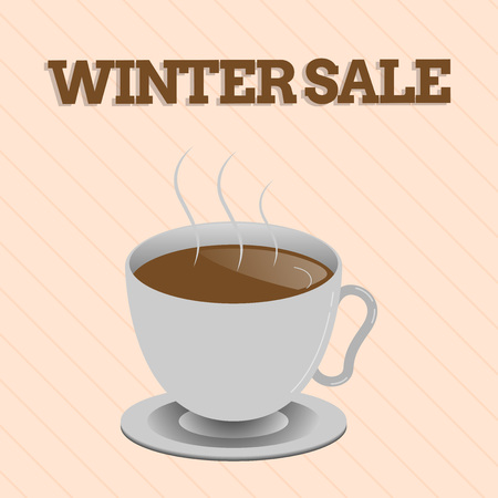 Word writing text Winter Sale. Business concept for discounts offered at the end of year holiday sales lower prices.
