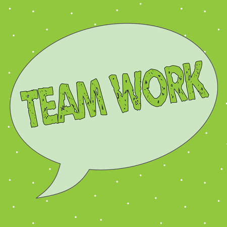 Handwriting text Team Work. Concept meaning Combined action of a group workgroup cooperation collaboration. Stock Photo