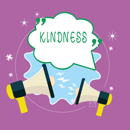 Handwriting text writing Kindness. Concept meaning quality of being friendly generous and considerate Warmth.