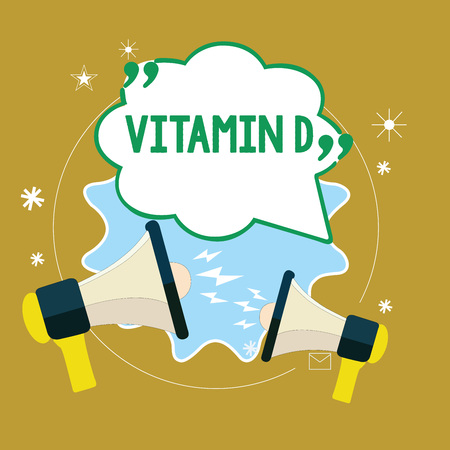 Text sign showing Vitamin D. Conceptual photo nutrient responsible for increasing intestinal absorption.