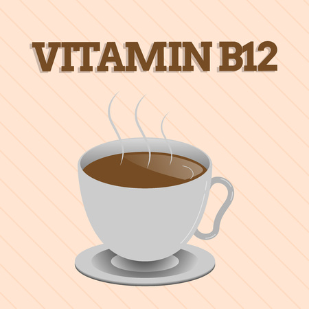 Word writing text Vitamin B12. Business concept for Group of substances essential for the working of certain enzymes.