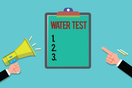 Word writing text Water Test. Business concept for Sampling of various liquid streams and analysis of their quality. Stock Photo