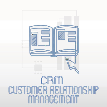 Handwriting text writing Crm Customer Relationship Management. Concept meaning Manage and analyze customer interaction.