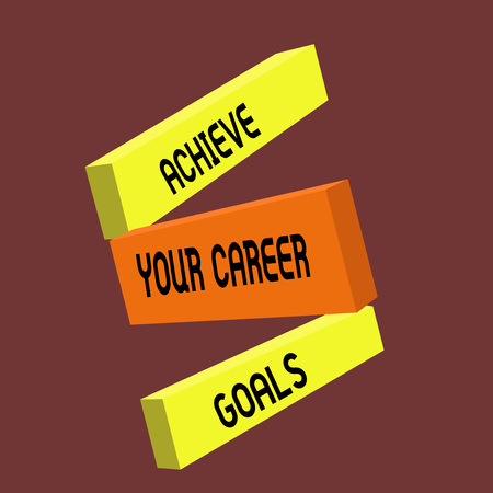 Conceptual hand writing showing Achieve Your Career Goals. Business photo text Reach for Professional Ambition and Objectives. 版權商用圖片