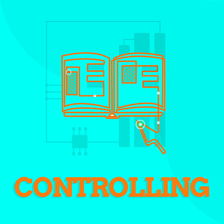 Text sign showing Controlling. Conceptual photo Having the power to control how something is analysisaged or done.