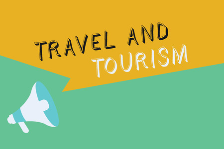 Conceptual hand writing showing Travel And Tourism. Business photo showcasing Temporary Movement of People to Destinations or Locations. Stock Photo