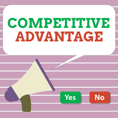 Handwriting text Competitive Advantage. Concept meaning Company Edge over another Favorable Business Position. 写真素材